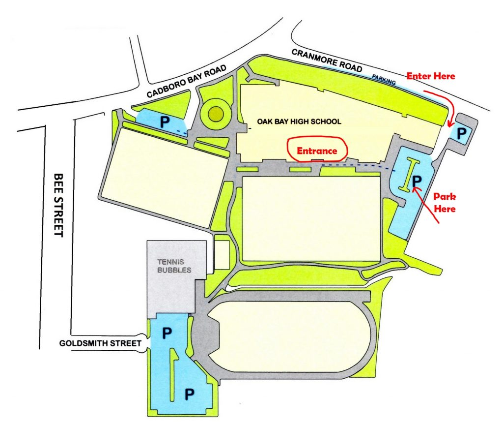 Oak Bay High School Map