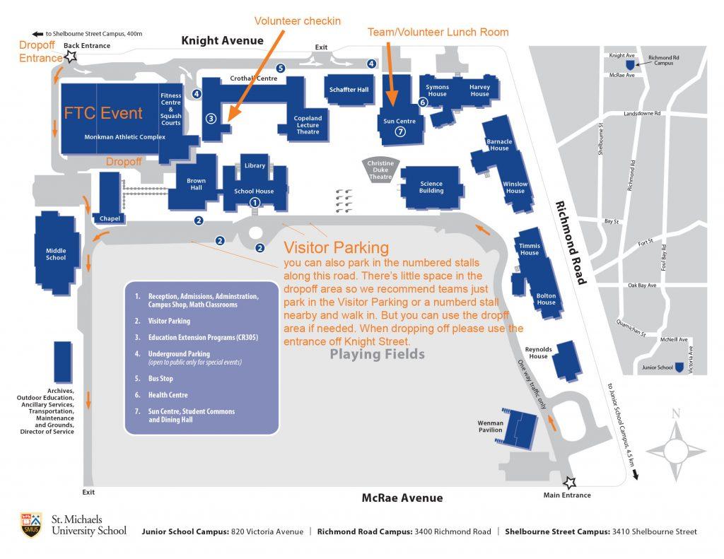 St. Michaels University School campus  map
